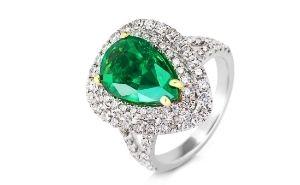 BILDCONTAINER Ring Smaragd 300 x 185